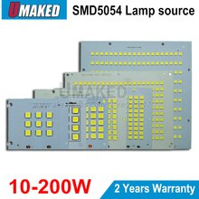 100% Reflector LED de potencia completa PCB 10W 20W 30W 50W 100W 150W 200W SMD5054 tablero led, placa de aluminio para reflector led
