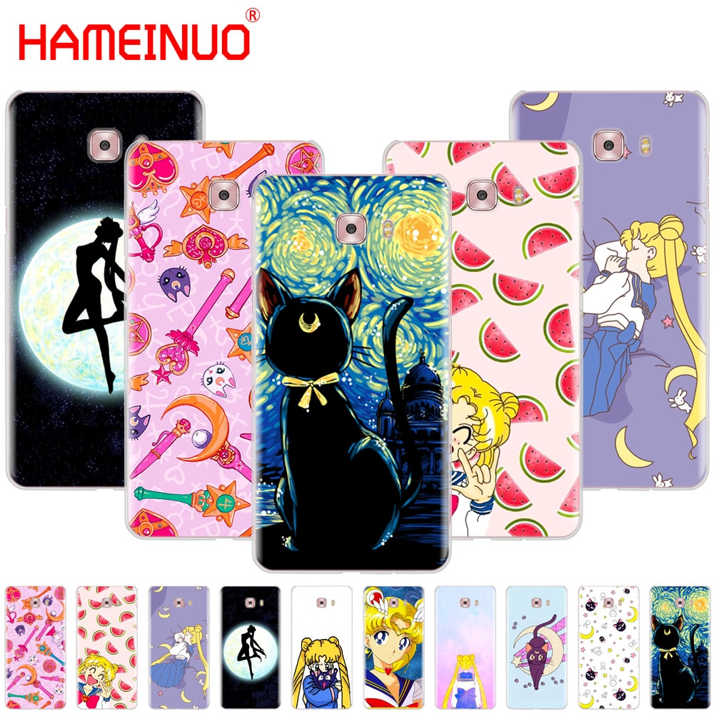 Sailor Moon Sailor Mercury HAMEINUO bonito da tampa do caso do telefone para Samsung Galaxy C5 C7 C8 C9 C10 J2 PRO 2018