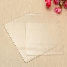 Plaque de tapis de découpe acrylique Transparent   Pour le bricolage, matrices de découpe, adaptateur de Plate-forme, plaque de découpe transparente 3mm/5mm