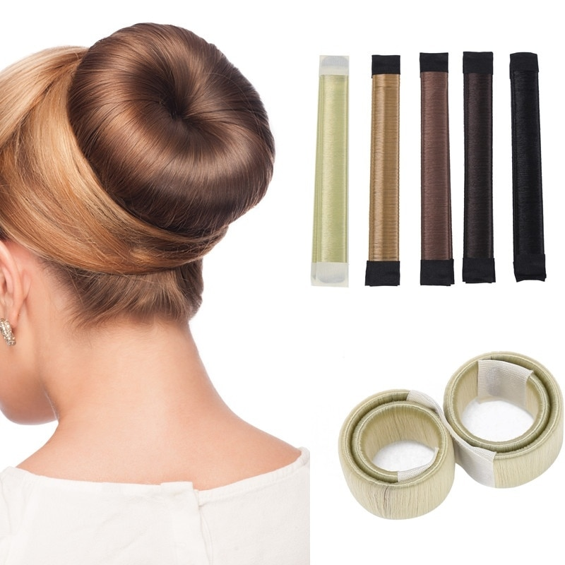 French Fashion Magic Hair Bun Maker Hair Donut Bun Maker Easy Bun Hair Twist Magic Bun Maker Clip For Women Make Up 5 colors