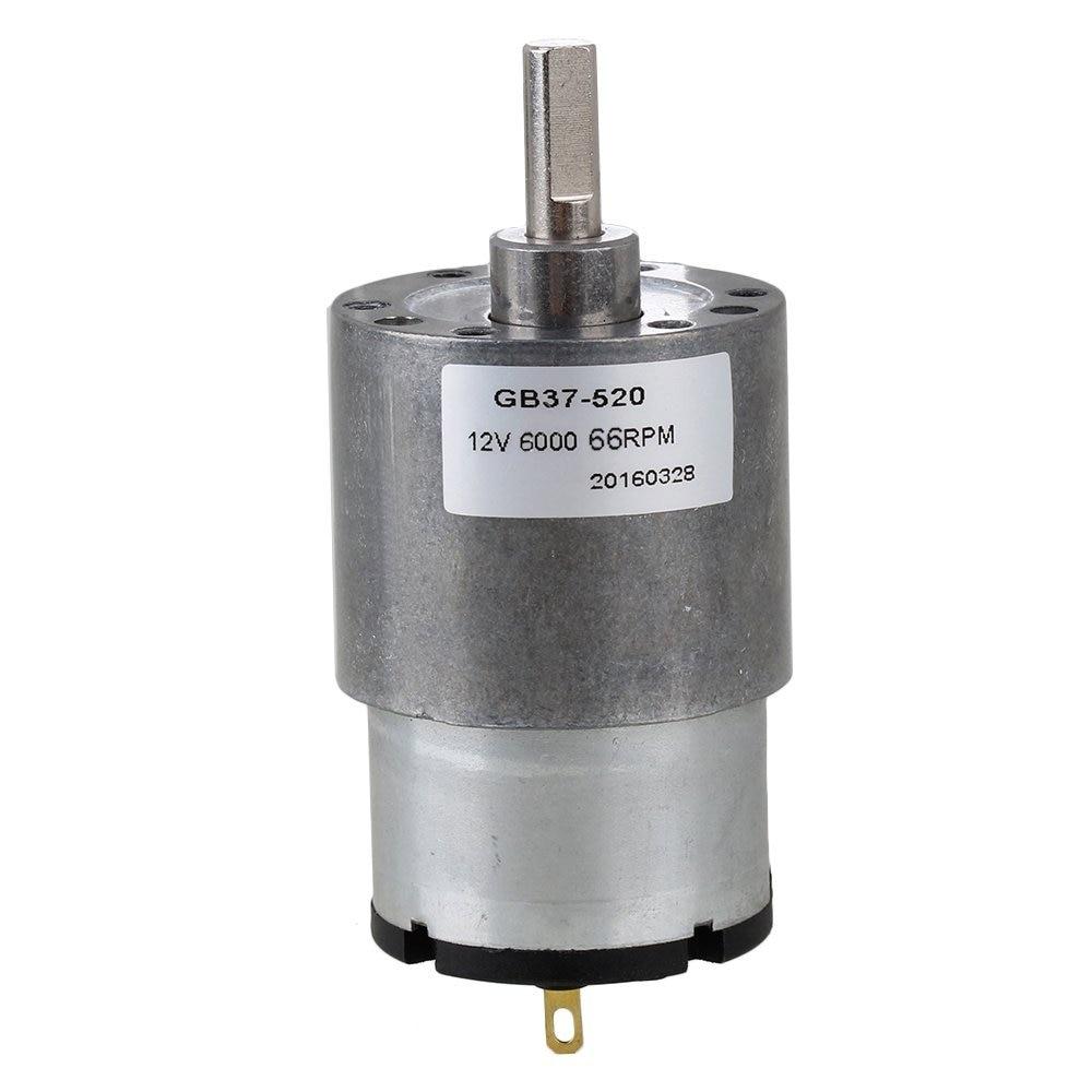 DC12V 37mm Velocidade No-load 66 RPM Baixo Ruído Direct-corrente De Metal Em Miniatura Elétrica Motor Engrenado para Atuador automático