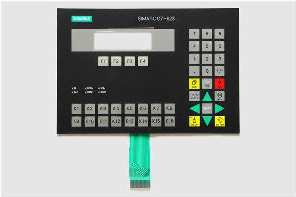 6ES7623-1AE01-0AE3 6ES7 623-1AE01-0AE3 غشاء لوحة المفاتيح ل SIMATIC C7-623 إصلاح ، دينا في المخزون