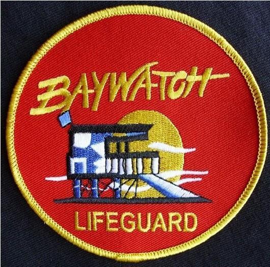 "4"" NBC BAYWATCH BAY WATCH LA LIFEGUARD SWIM SUIT EMBROIDERED IRON ON PATCH BADGE EMBLEM, Free shipping"