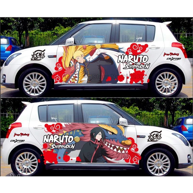 Car Styling Uchiha Sasuke Naruto Door Stickers Japanese Anime Vinyl Sticker Decals Auto Body Racing Decal ACGN Car Film Paint