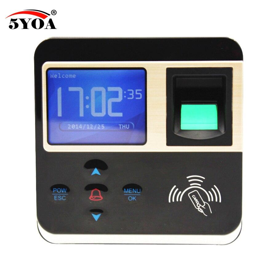 5YOA биометрическая машина контроля доступа отпечатков пальцев цифровой электрический RFID считыватель сканер датчик кода система для дверного замка