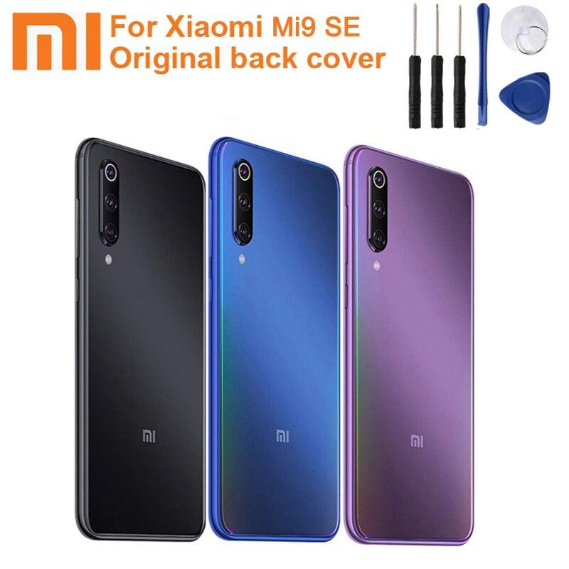 Xiao Mi Xiaomi Panel trasero de batería de cristal Original para Xiaomi MI 9 SE Mi9SE M9SE MI9 SE carcasa trasera de batería de teléfono + herramienta