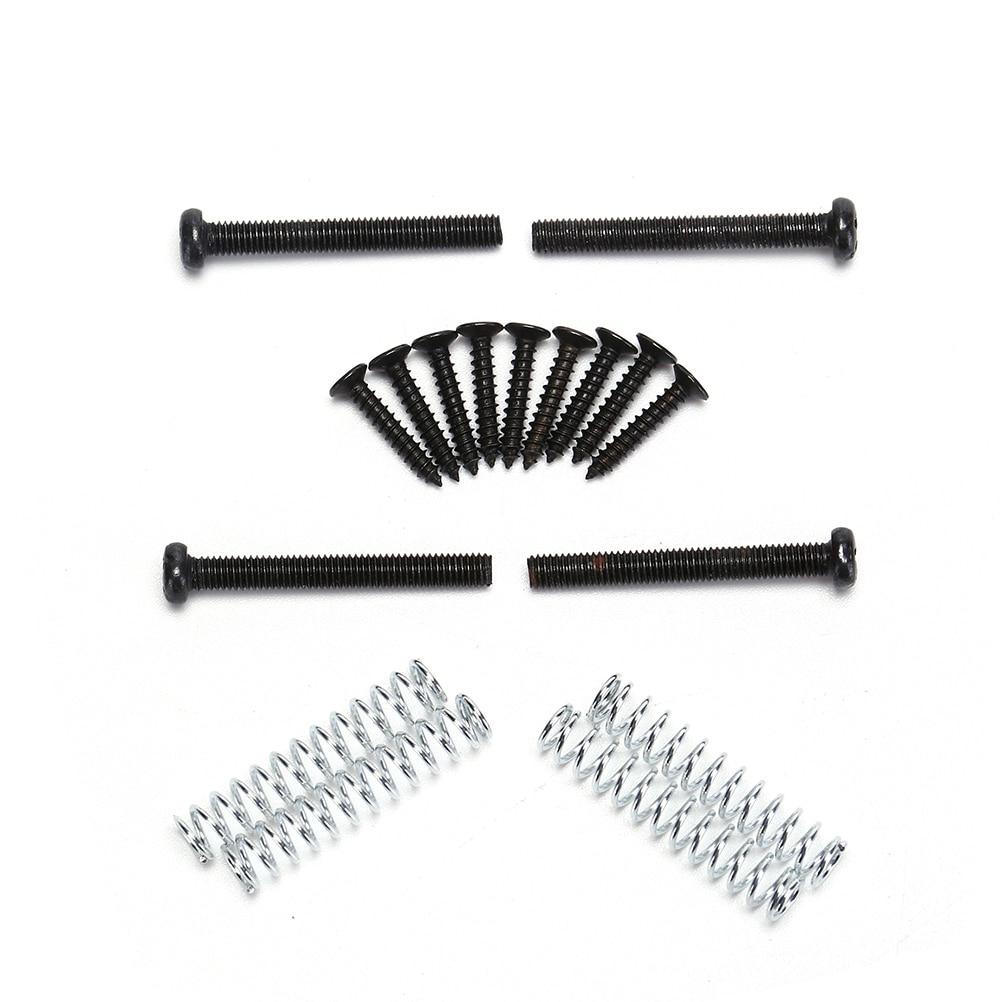 12Pcs Guitar Humbucker Pickup Ring+Mounting Screws Set Kits Height Screw W/Spring Black Easy Install Accessories