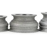 brazing diamond grinding wheel grinding stone for glass ceramics marble concrete floor begonia semicircle edge shaping gj012