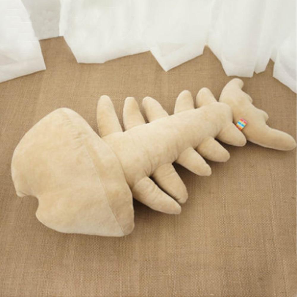 Fancytrader almohada de peluche de hueso de pez con forma de pez