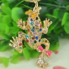 TQ grenouille libellule porte-clés strass cristal pendentif à breloque voiture clé sac chaîne sac à main bijoux noël saint valentin cadeau