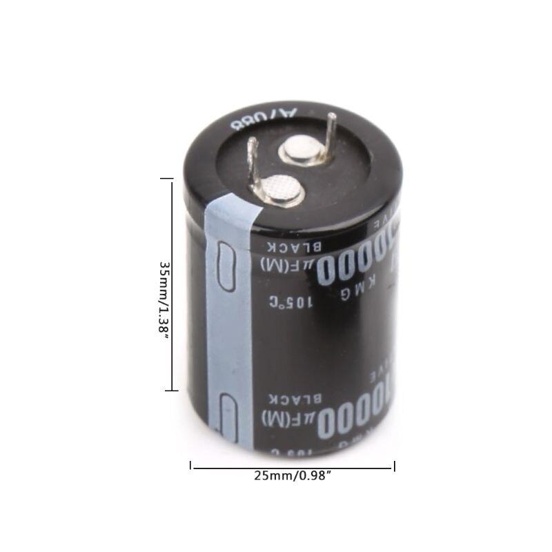 2 uds 10000uF 35V Capacitores electrolíticos radiales de aluminio 25x40mm J6PD