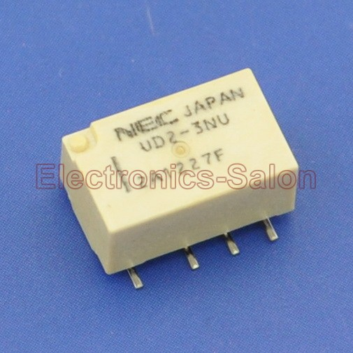 (20 pçs/lote) UD2-3NU SMD Relé de Sinal, DC 3 V, Ultra-miniatura Plana, DPDT/2 Form C