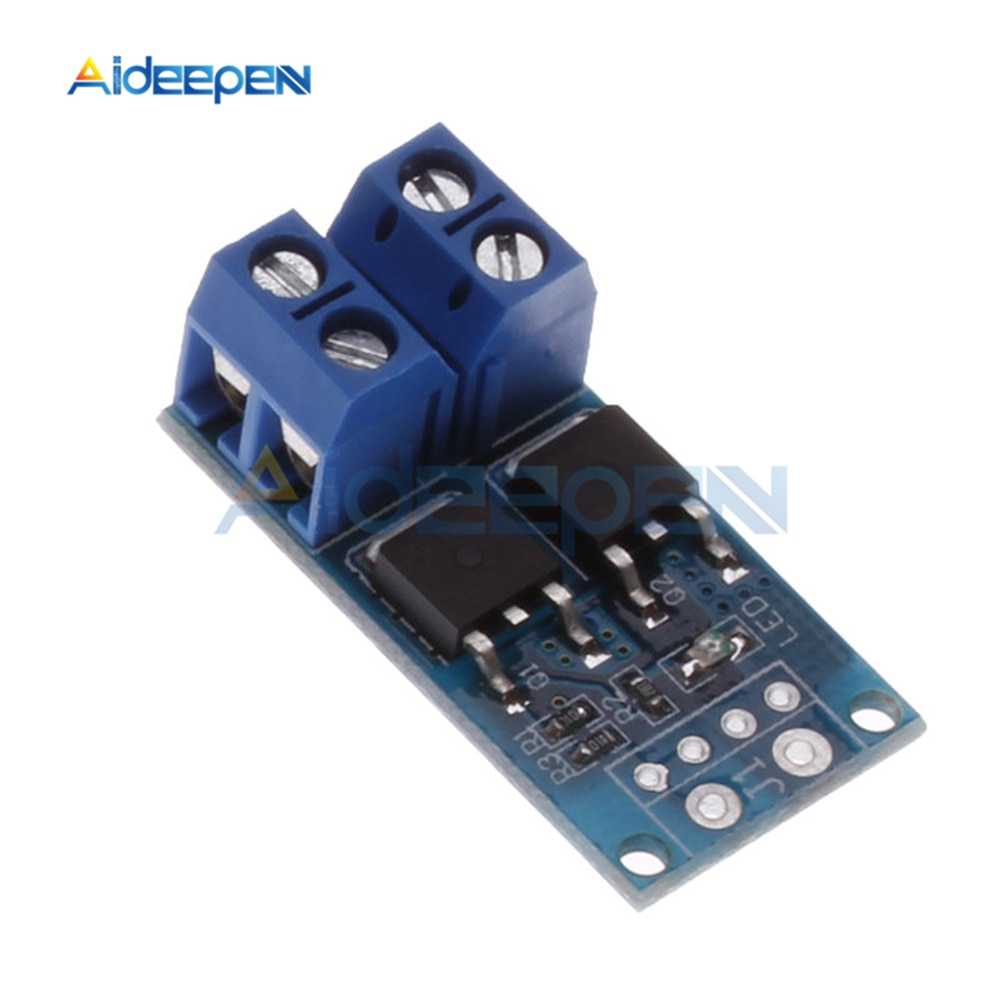 15A 400W MOS FET efecto de campo interruptor de gatillo de tubo Módulo regulador PWM regulador interruptor electrónico Panel de Control