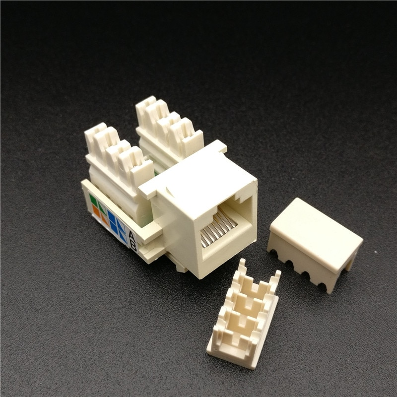 وحدة شبكات CAT5E UTP ، 20 قطعة ، موصل معلومات RJ45 بدون أدوات ، مقبس إخراج الكمبيوتر ، محول كابل Keystone