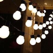 5CM grande boule Led guirlande lumineuse fée guirlande extérieure LED guirlande Led de noël Led chaîne lumière 110V 220V mariage guirlande décor D