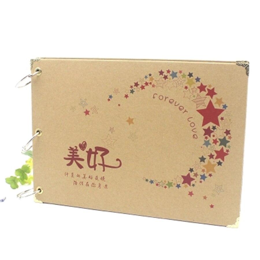 Par DIY álbum de fotos álbum hecho a mano conmemorativo diario libro de recuerdos Scrapbooking gran Plakboek de Niños 699