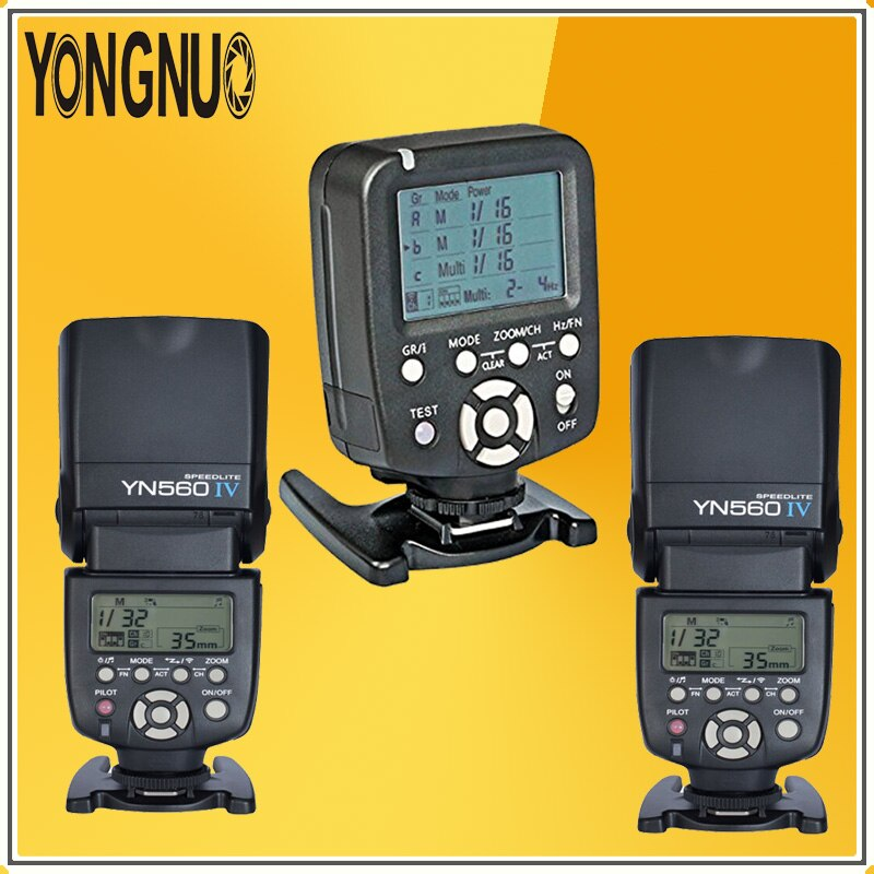 Contrôleur de Flash sans fil YONGNUO YN560-TX + 2 * YN560IV YN560 IV kit Flash Speedlite sans fil pour appareils photo reflex numériques Nikon