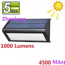 Mikrowelle Radar Motion Sensor Solar Licht 48 LED Super Helle 1000lm 4 Modi Outdoor Garten Wand Lampe