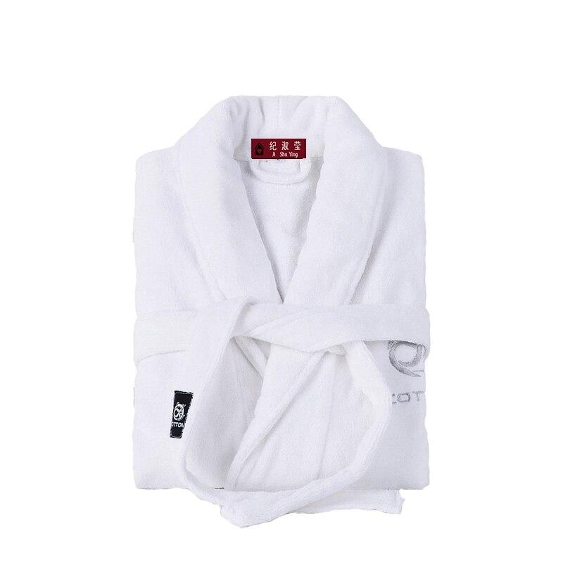 Мужской удлиненный халат из хлопка, с длинным рукавом и шалью