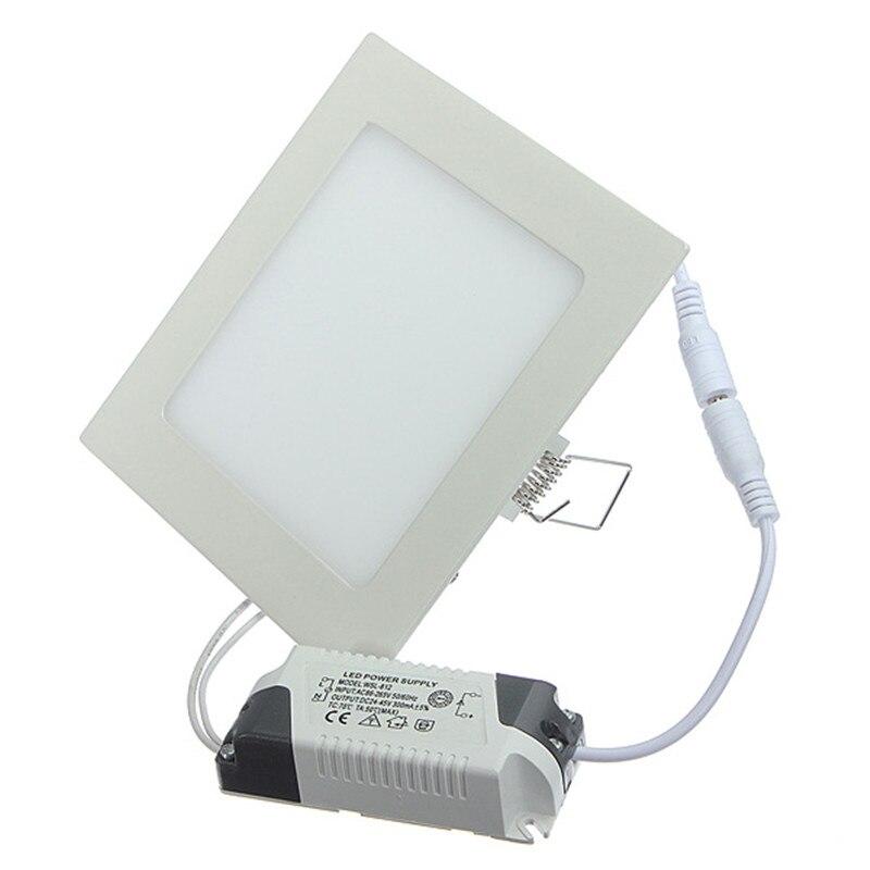 Panel de techo de luz LED regulable 4W/6W/9W/12W/15W/25W proyector descendiente de LED empotrado con atenuador de soporte del conductor blanco cálido/Natural/frío