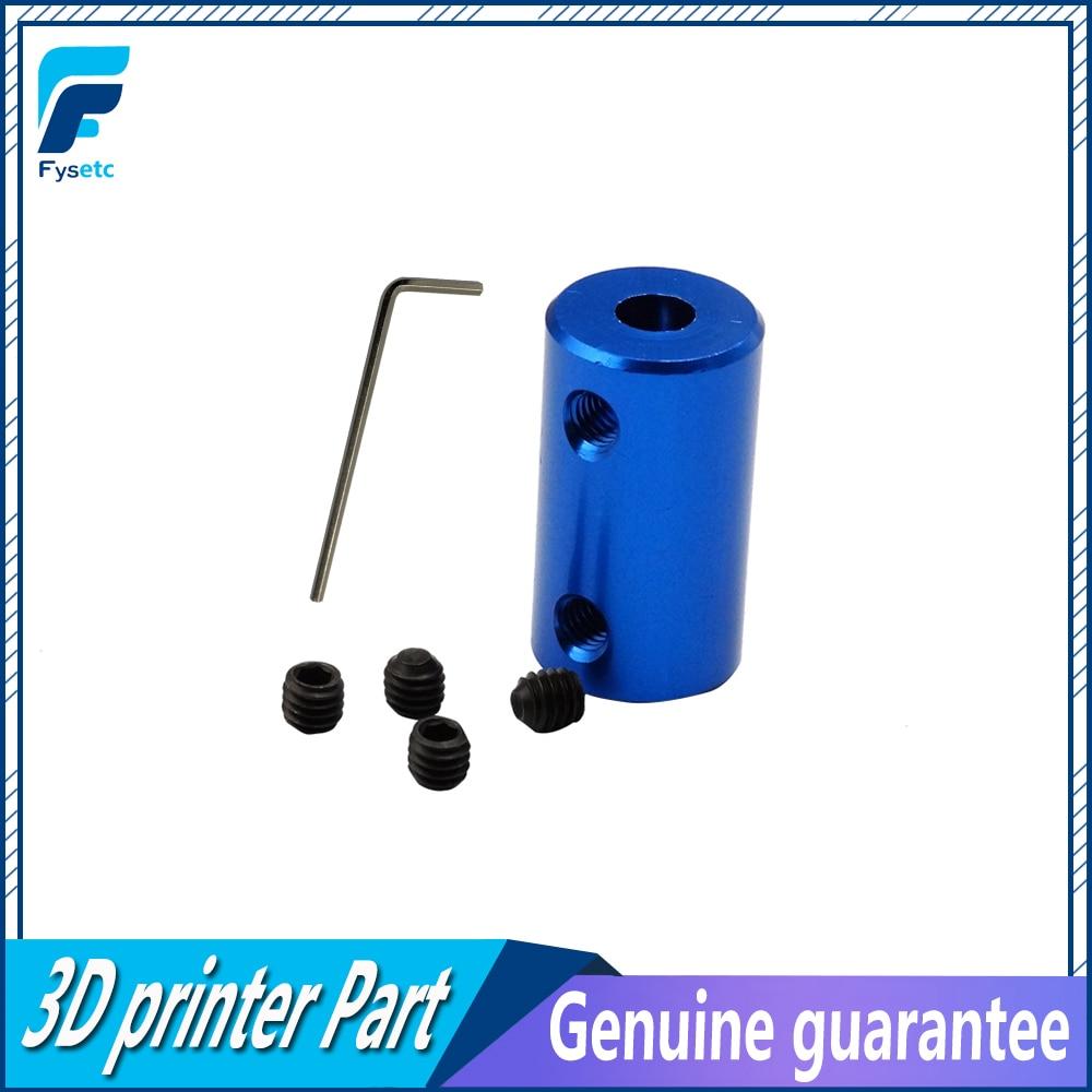 1PC Blue Shaft Coupler Stepper Motor Coupling 5x5 5x8 For 3D Printer, Car Model, Ship Model, Metal DIY Model ,Impresora 3D Diy