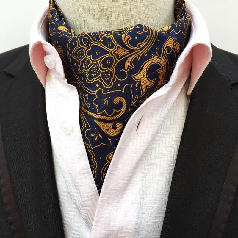 Fashion Paisley  Vintage 100% Silk Cravat Ascot Scrunch Self Luxury British Style Gentleman Silk Ascot tie Wedding Party ботинки front by ascot front by ascot fr009amcjuc5