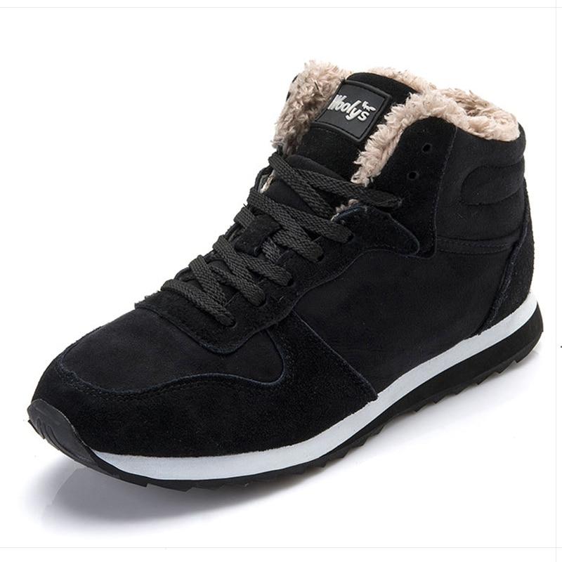 Bottes hommes chaussures d'hiver mode bottes de neige chaussures grande taille baskets d'hiver cheville hommes chaussures bottes d'hiver noir bleu chaussures