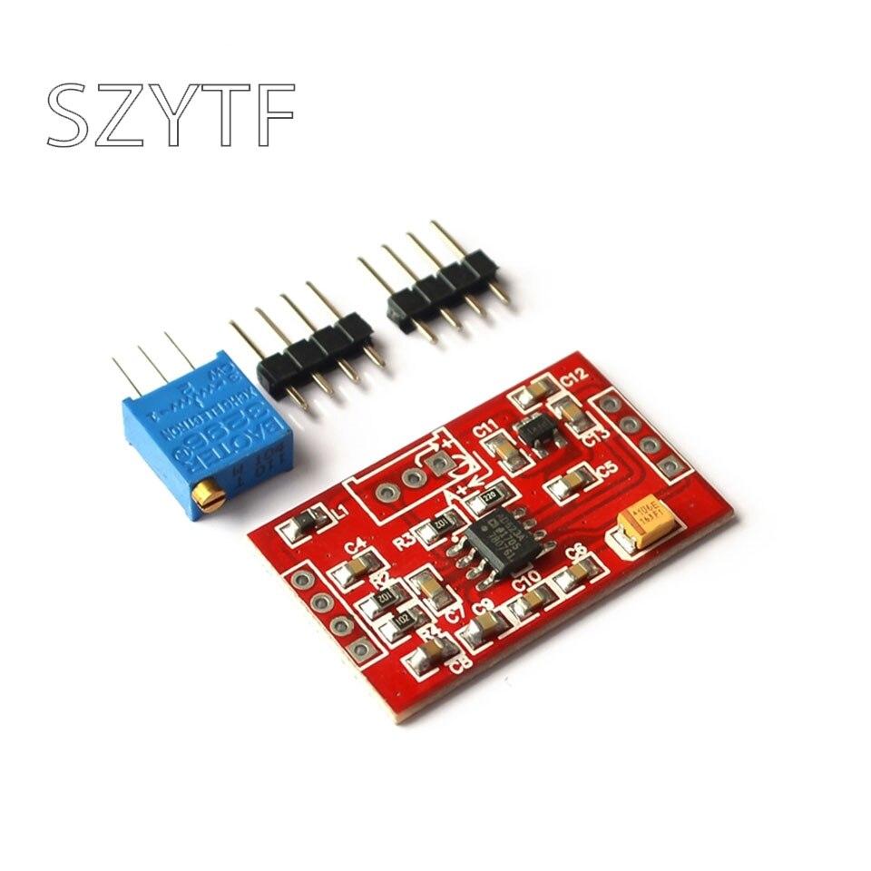 Módulo do amplificador ad623/ad620 do amplificador do sinal do amplificador da tensão do milivolt/microvolt