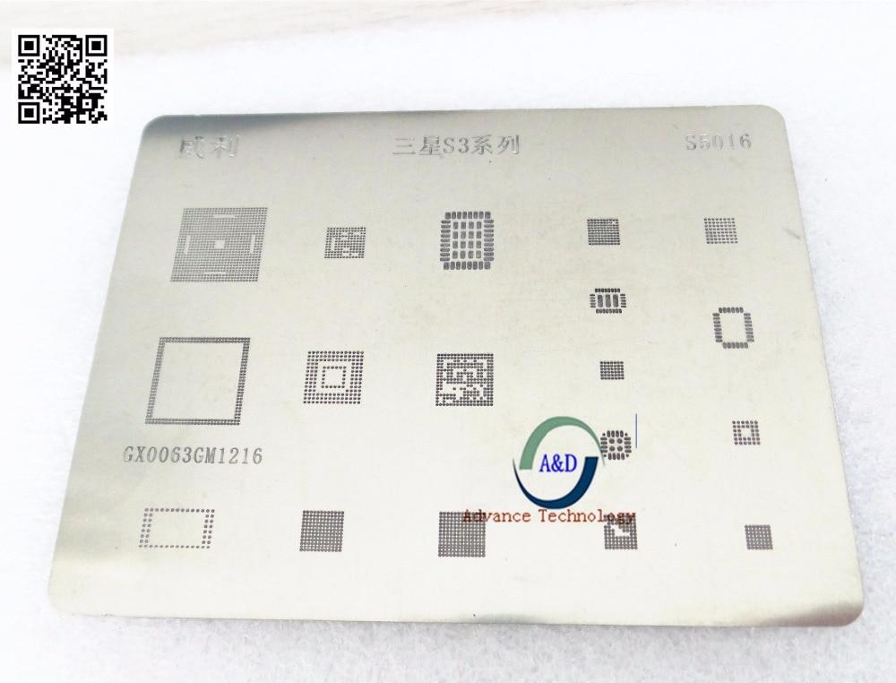 2 pçs/lote EMMC reball Retrabalho BGA reballing stencil para S3 I9300 CPU poder ic A & D