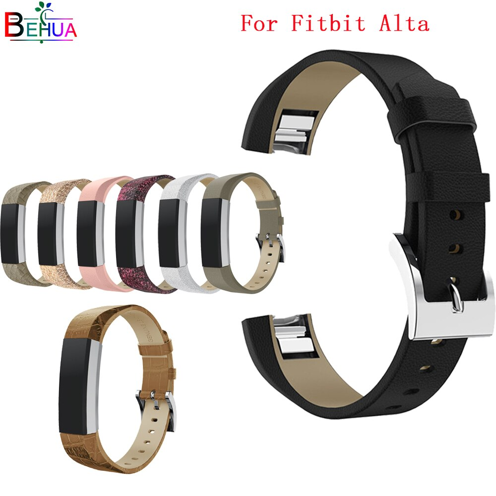 Leather Band For Fitbit Alta /Alta HR Tracker watch Replacement High Quality Genuine bracelet For Fitbit Alta /Alta HR watchband new high quality genuine stainless steel watch bracelet band strap for fitbit alta hr for fitbit alta watch wrist strap bands