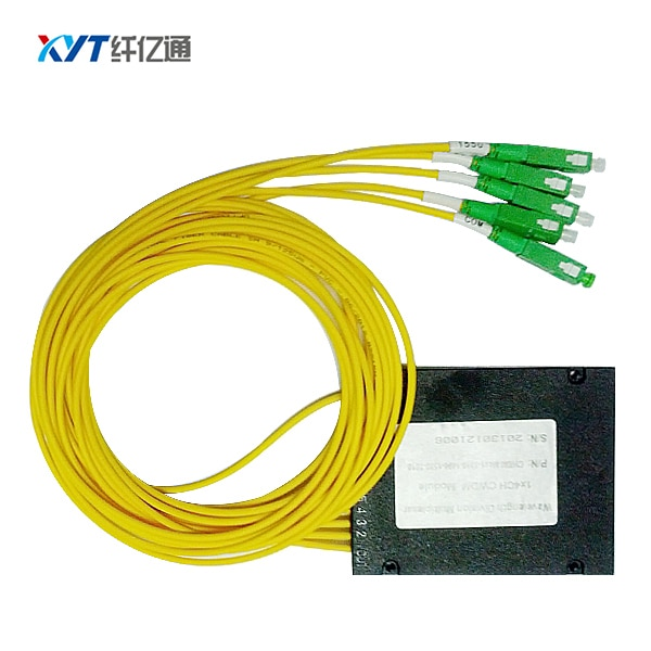 Low insertion Loss lc upc Connector Single Fiber 4 Channel DWDM Mux Demux Optical modules