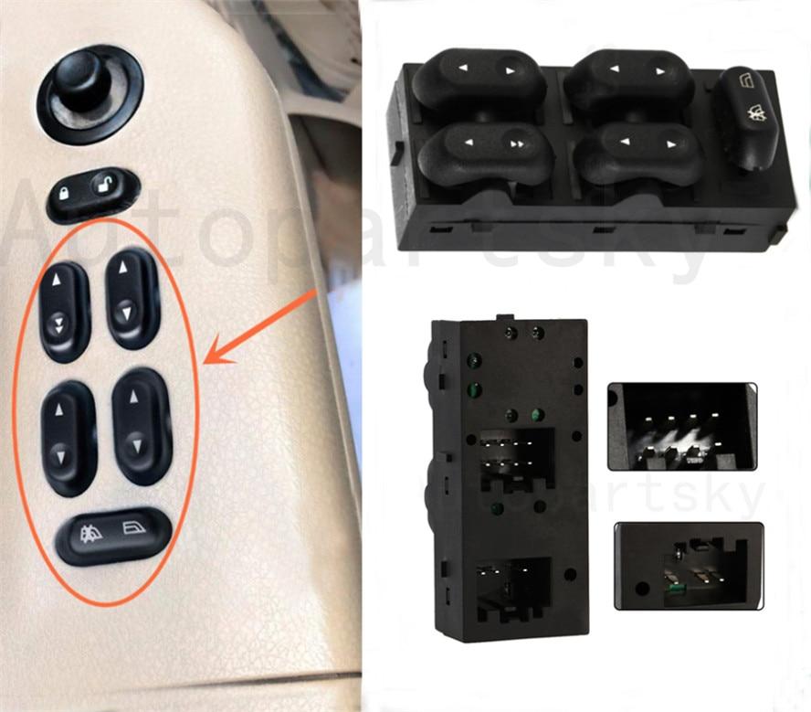 Gran calidad 5L1Z-14529-AA 5L1Z14529AA para Ford F150 04-08 Lincoln interruptor principal de ventana eléctrica frontal LH lado del conductor izquierdo