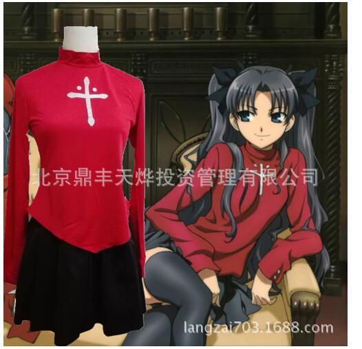 Fate Stay Night Fate Zero Tohsaka Rin Cosplay Red Womens Fate Stay Night Cosplay Costume