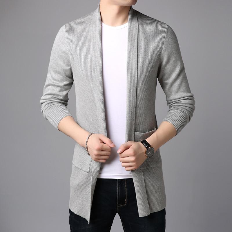 معطف رجالي طويل وضيق ، ملابس غير رسمية على الطراز الكوري ، موضة 2021 الجديدة