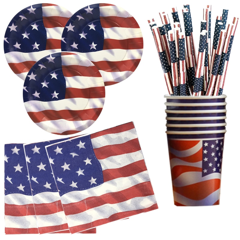Happy Independence Day 4th of July Headband For 2020 Independence Day Decorations USA Party Supplies independence day firecracker birthday backdrop 4th of july first birthday party photo background cake table decorations supplies