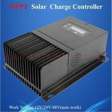 Panneau pv solaire à affichage lcd 45a   Qualité supérieure, chargeur de panneau pv 12 volts, régulateur de tension mppt