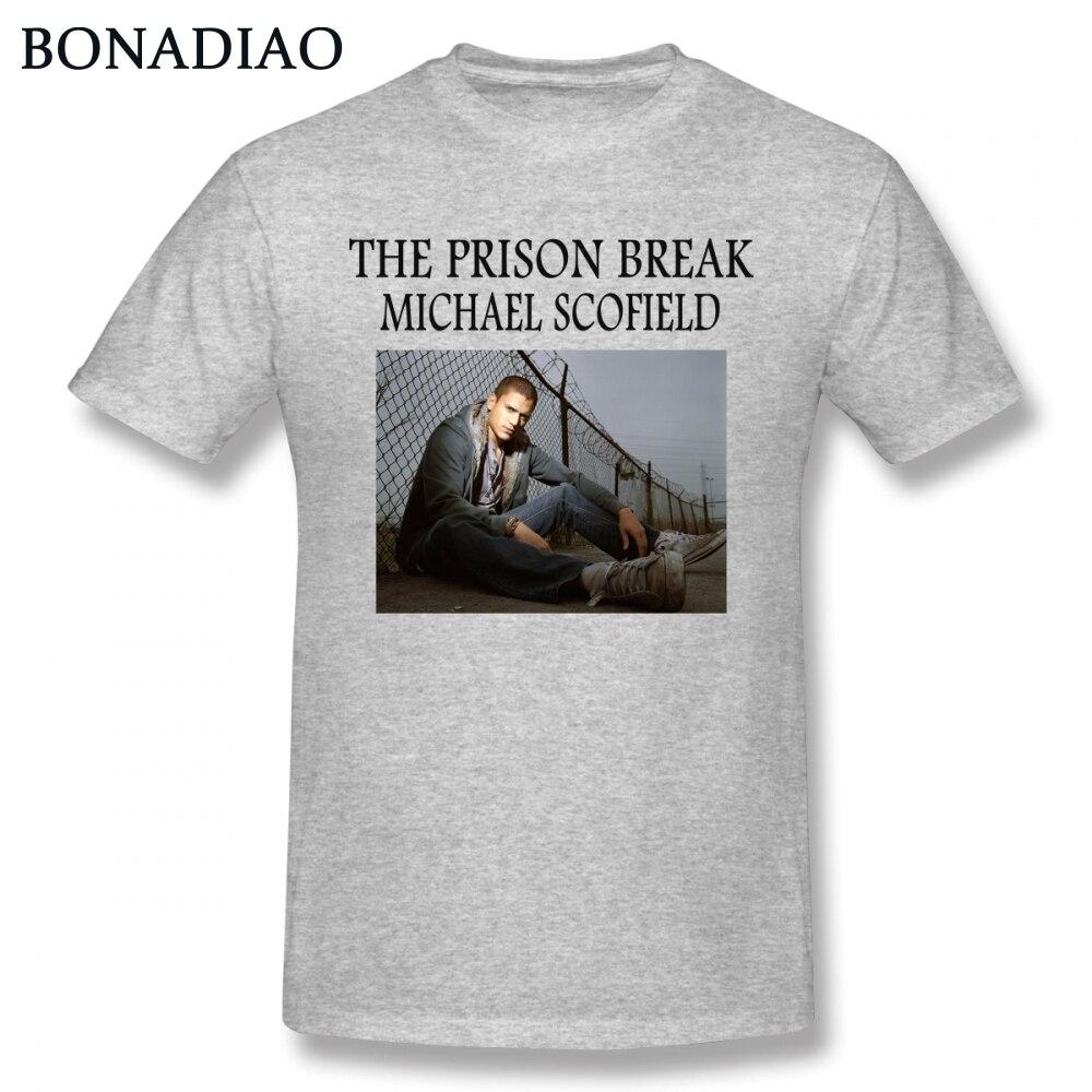 Camiseta de la película de Prison Break para hombre, Camisa de algodón...