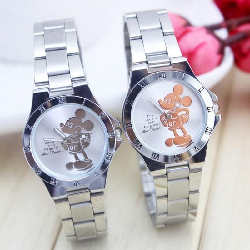 New Arrival Luxury Brand Minnie Watch Fashion Silver Students Wristwatch Full Steel Women's Saat Rel