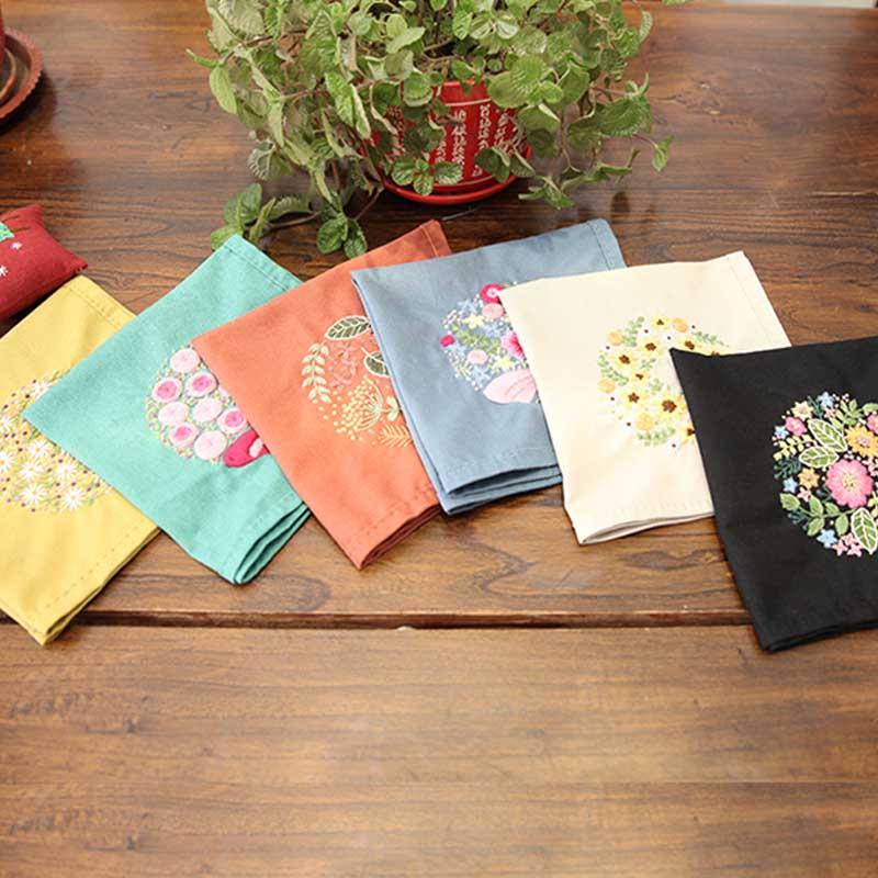 DIY cinta flores bordado pañuelo conjunto con aro para principiantes kits de costura serie de punto de cruz artes manualidades de costura