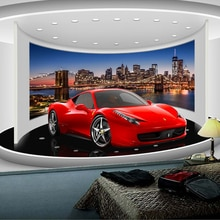 사용자 정의 모든 크기 3d 스포츠카 포스터 사진 벽지 거실 연구 침실 tv 배경 벽 벽화 벽지 de parede 3d