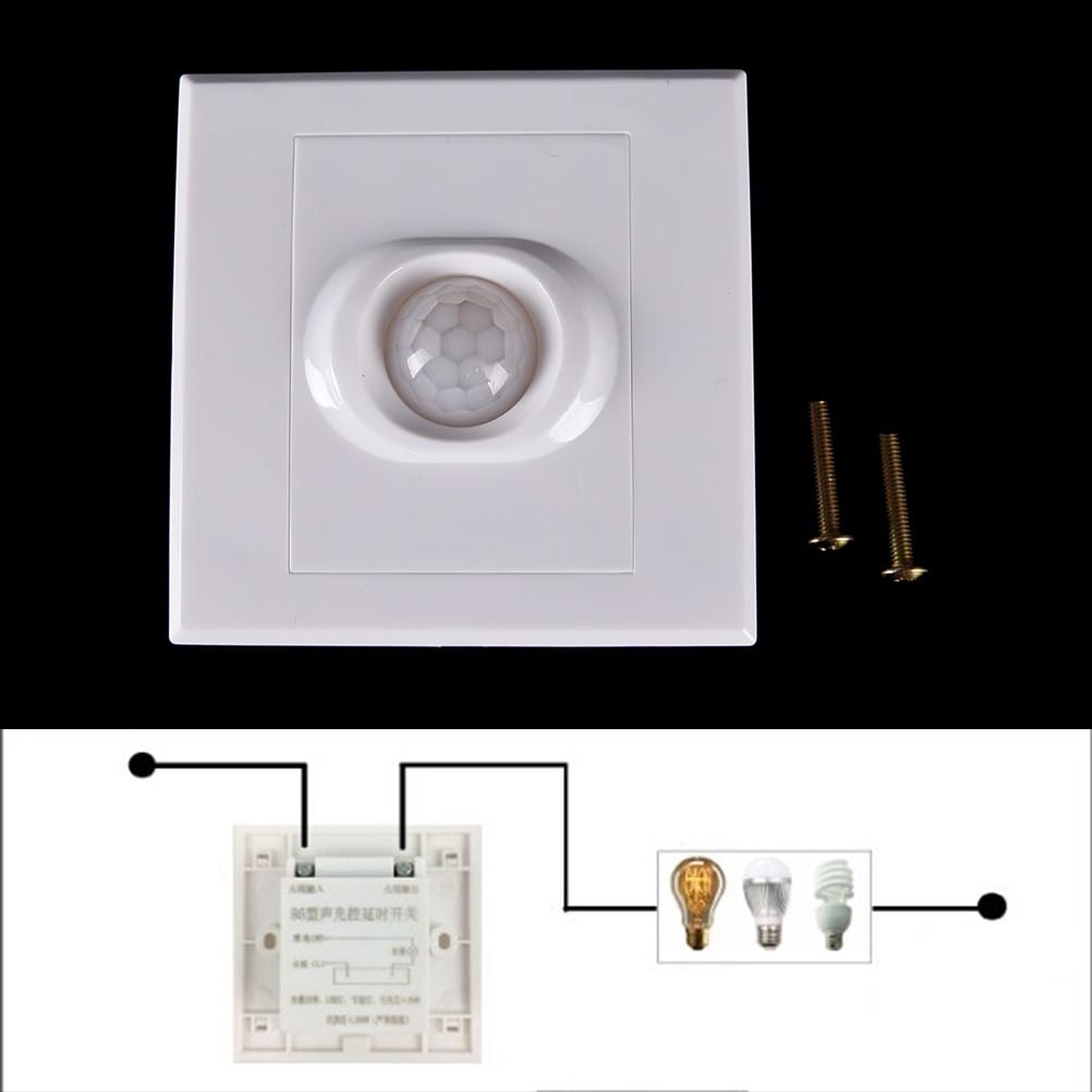 1PCS White PIR Senser Infrared IR Switch Module Body Motion Sensor Auto On off Lights Lamps