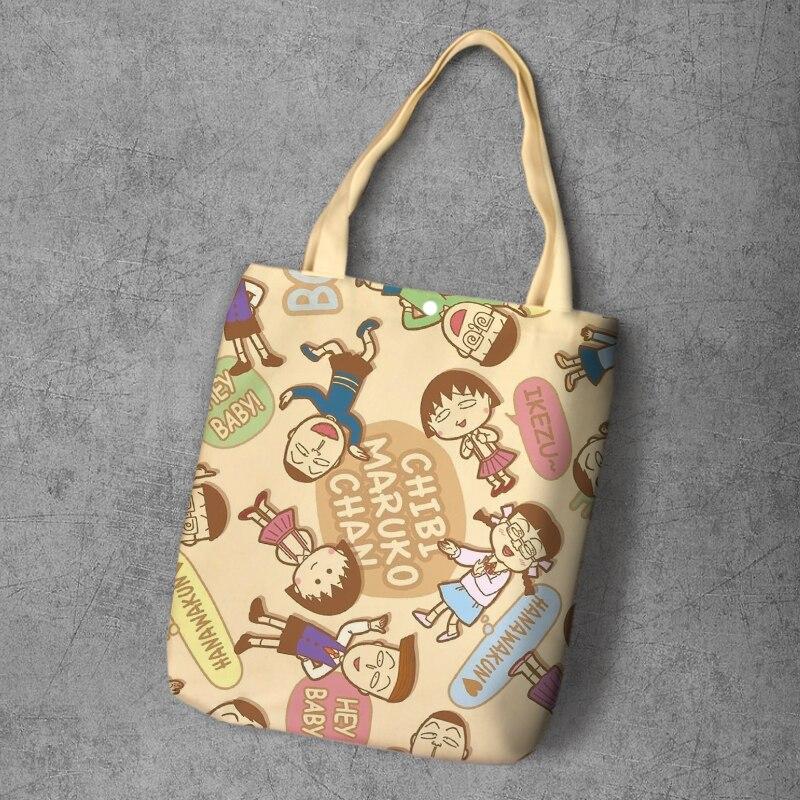 IVYYE Chi-bi Maruko модный рюкзак для покупок в стиле аниме, Повседневная Большая вместительность, сумка-тоут для девушек, сумки на плечо, новинка