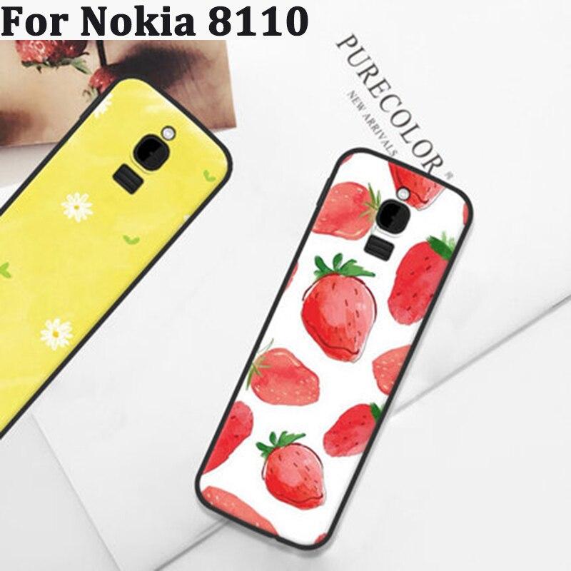 2 pcs Para Nokia 8110 caso casos Suaves Para Nokia8110 caso cobertura de banda desenhada tampa do telefone Para Nokia TA-1059 shell Para Nokia TA1059 coque