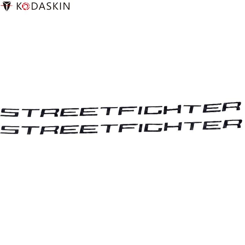 Pegatinas de motocicleta KODASKIN, calcomanías de emblemas de carbono negro, Logos para DUCATI Streetfighter 848
