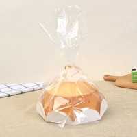 10 pcs 68 inch plastic cake bag home party birthday gift chiffon cake packaging with paper tray puff baking bag candy cookie