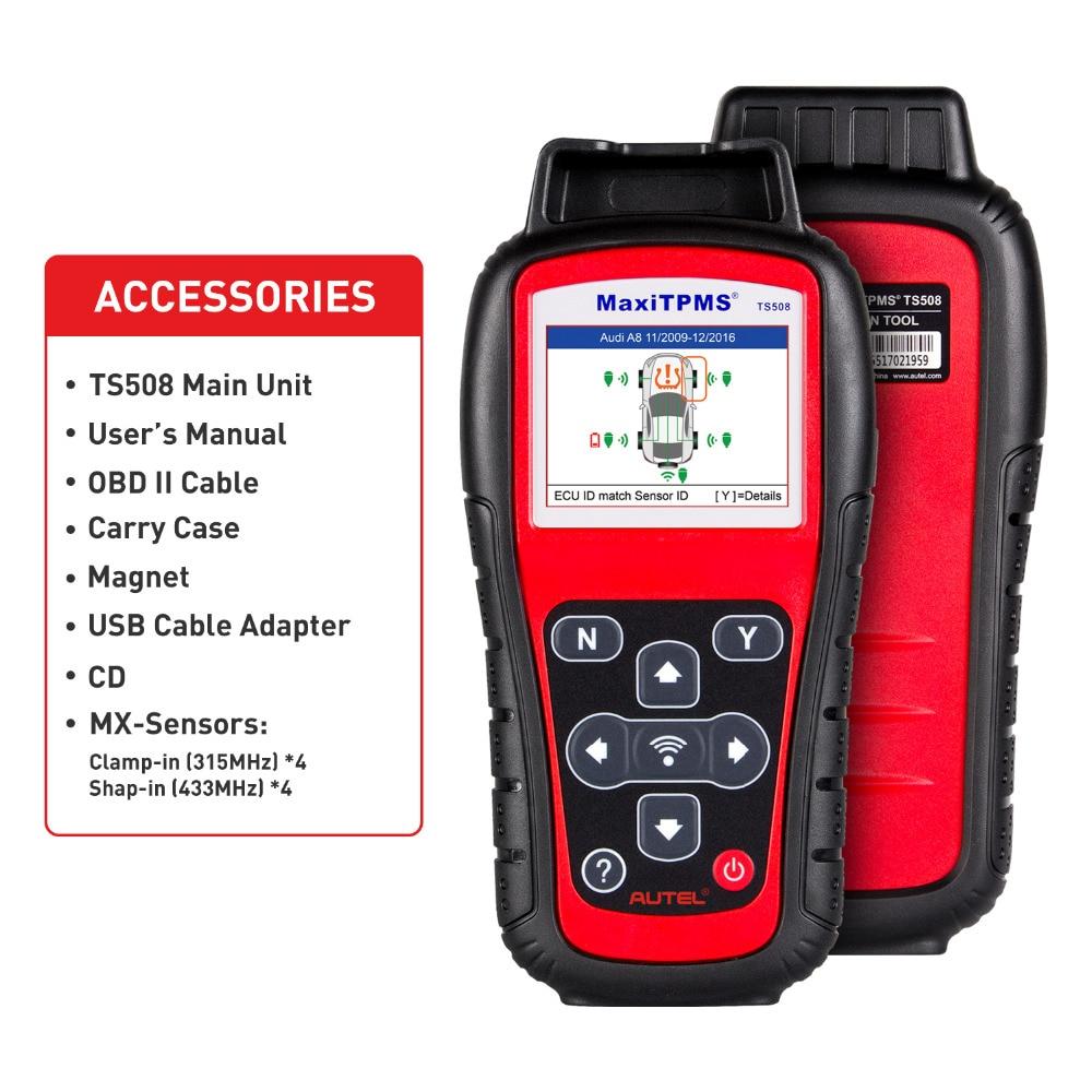 Autel ts508 premium tpms serviço ferramenta recebe 315mhz e 433mhz sinais tpms substituição ferramenta autel maxitpms ts508