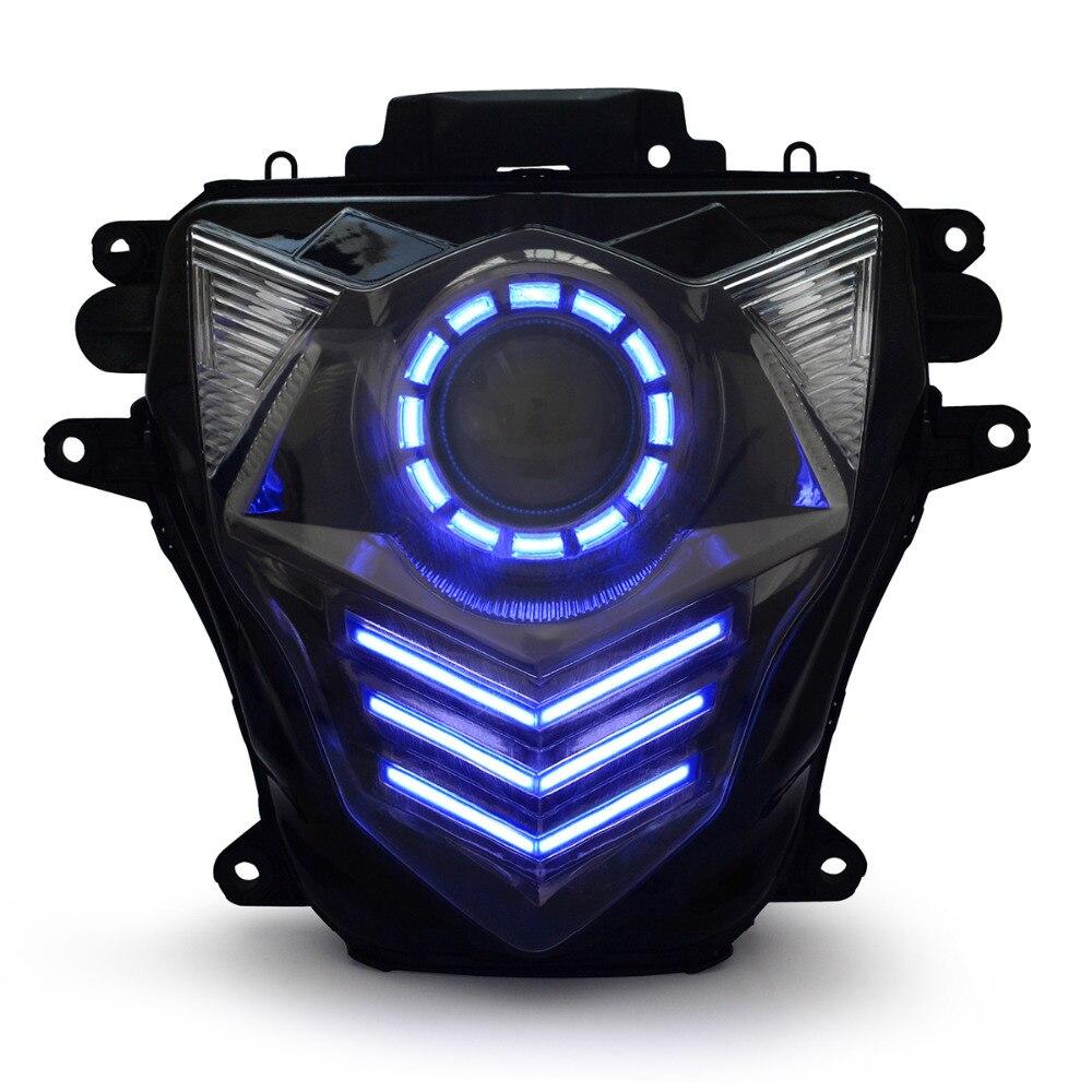 KT LED مجموعة مصابيح أمامية للدراجات النارية لسوزوكي GSXR750 GSX-R750 2011-2021 كشافات أمامية