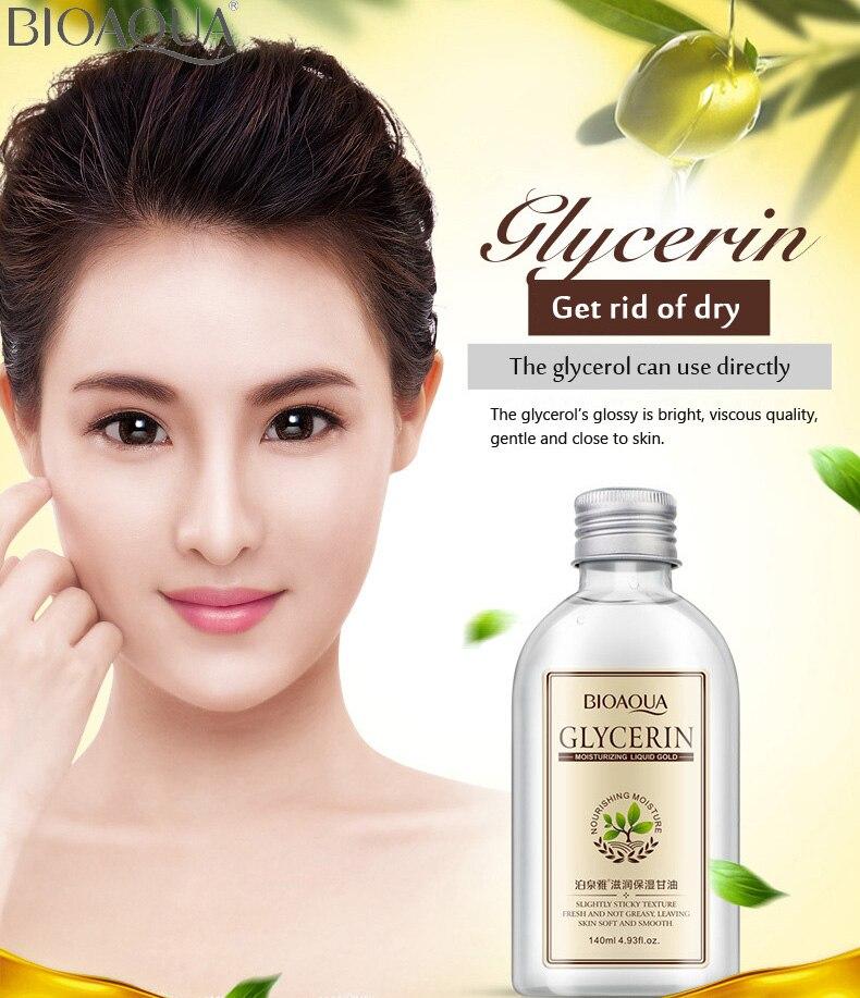 Bioaqua creme de glicerina natural hidratante cuidados com a pele do rosto funções múltiplas pele do corpo fresco manter a pele suave suave anti-envelhecimento