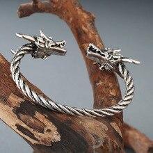 CHENGXUN Viking Dragon Bracelets nordique bijoux accessoires manchette ouverte bijoux hommes garçons bracelet vis clou bracelet Punk gothique charme