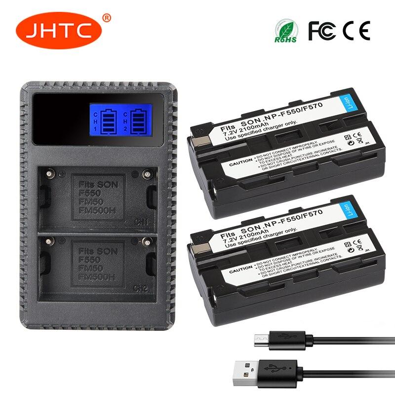 NP-F550 2 stücke Batterie & LCD USB Ladegerät für Sony NP F970 F750 F770 F960 F550 F530 F330 F570 CCD-SC55 TR516 TR716 TR818 TR917